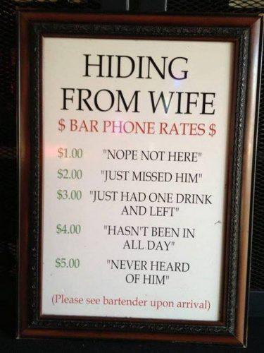 funny bar signs