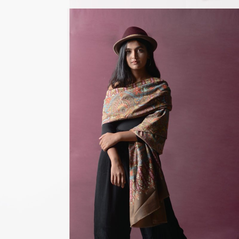 How to carry shawls with Indian wear