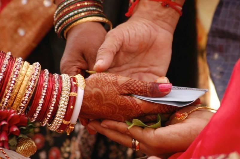 Kanyadaan, giving away a bride
