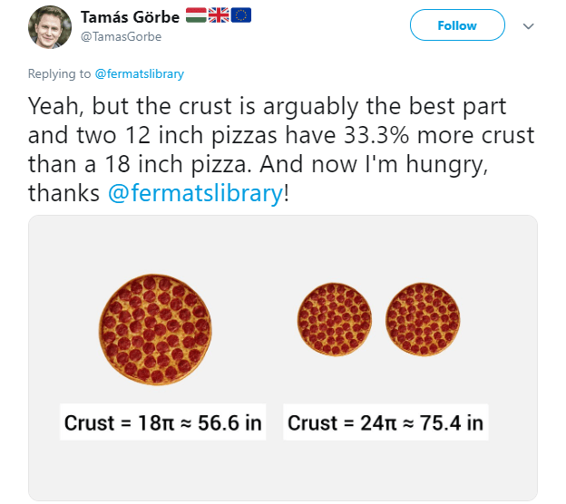 18 inch pizzas