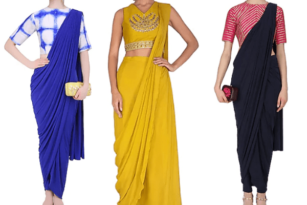 brands for pre-draped sarees