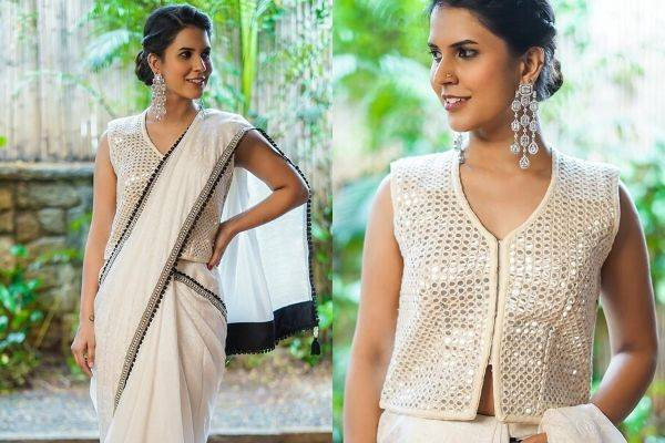 unique saree blouse designs