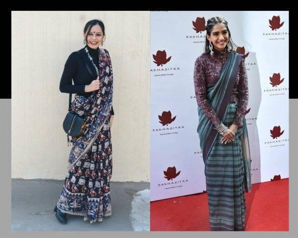 saree in winter