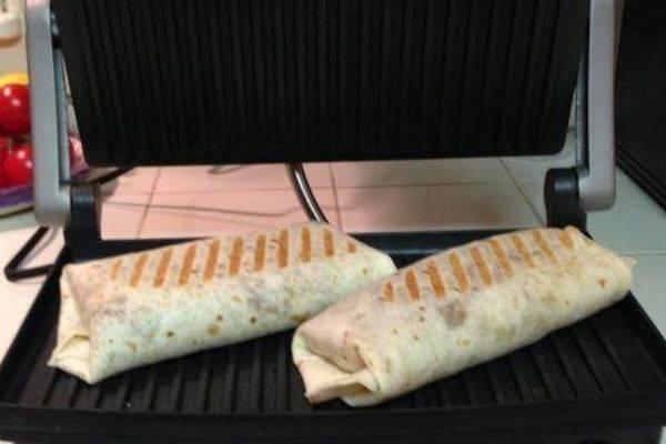 McDonald's Spicy Paneer Wrap In Panini Press