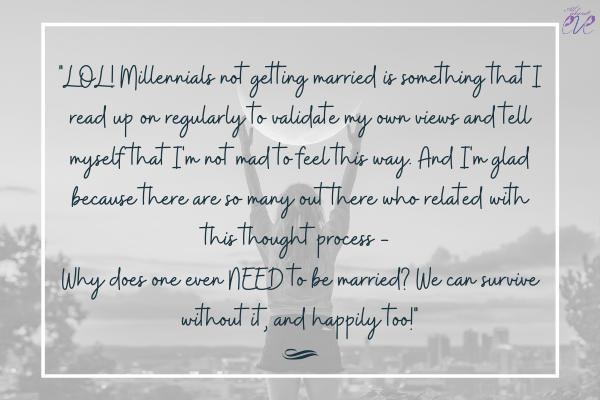 millennials not getting married