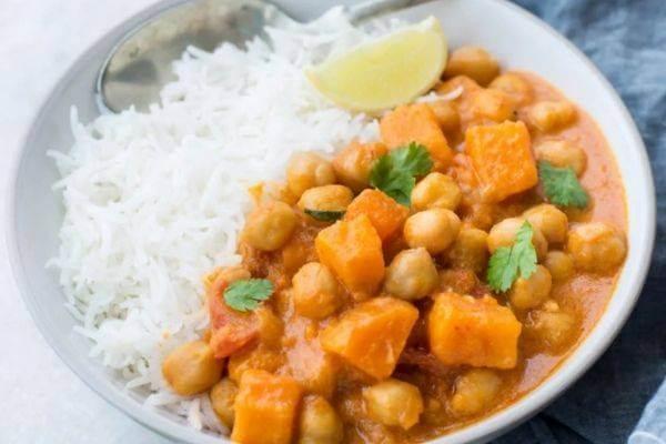 Sweet Potatoes And Chickpea Curry, Sweet Potatoes Recipe