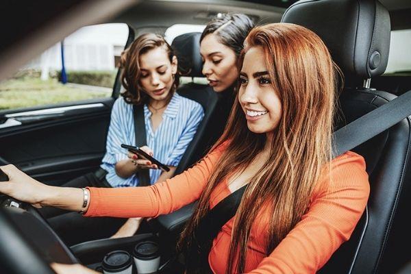 Earth Day- Three girl friends in a car