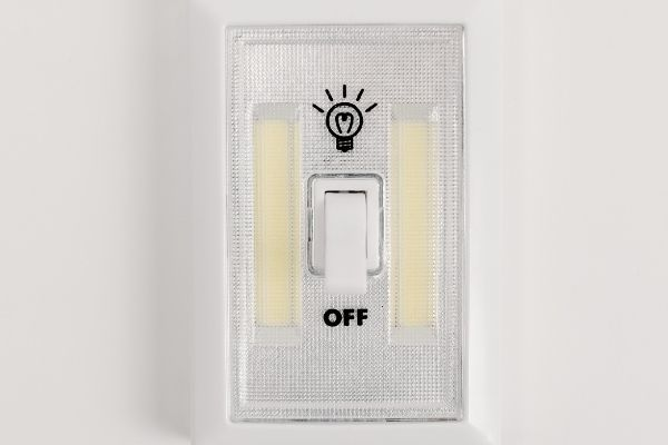 Earth Day- An electric switch in off mode