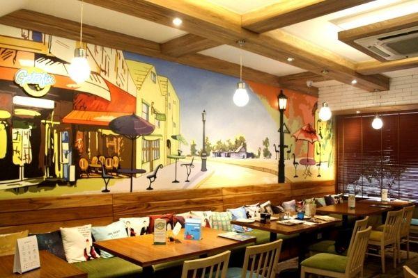 Interiors of Getafix restaurant