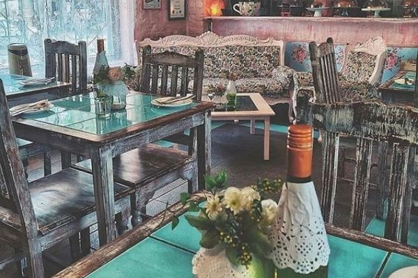 The interiors of Rose Cafe