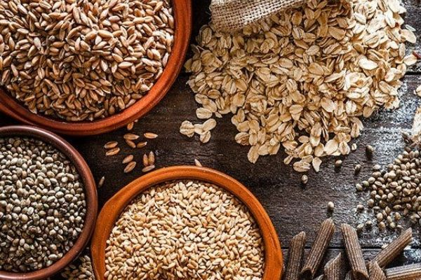 An assortment of whole grains