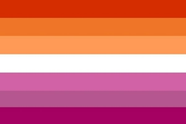 The lesbian pride flag