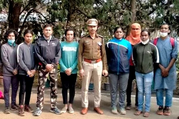 Some of the recruited candidates from Chhattisgarh police hiring earlier this year