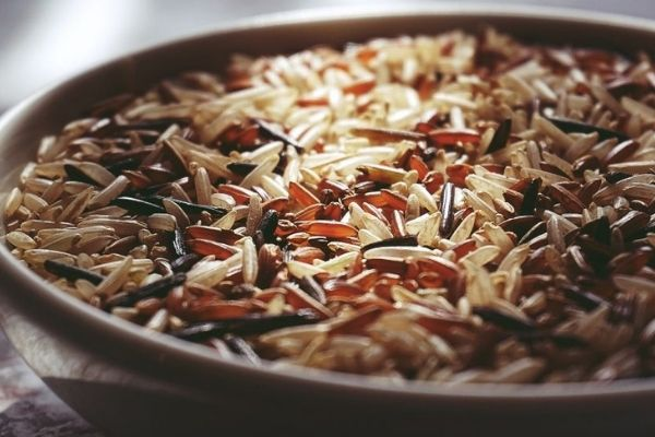 Assorted rice varieties in a bowl