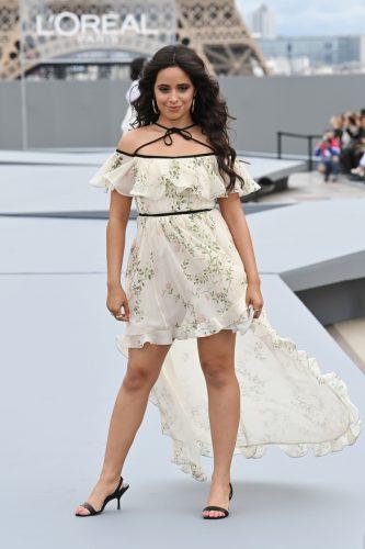 Camilla Cabello walking the ramp for L'Oréal